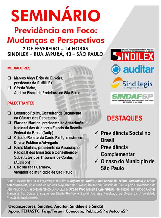 SINDILEX e SINDAF organizam Seminário acerca da Reforma da Previdência